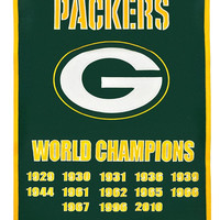 """Green Bay Packers 24""""x36"""" Wool Dynasty Banner"""