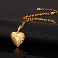 18K Real Gold Plated Heart Locket Pendant