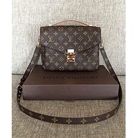 LV Classic Popular Women Shopping Leather Crossbody Satchel Shoulder Bag I