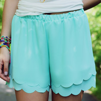 Wave Crashing Shorts - Lt. Mint