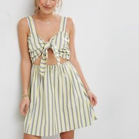 ASOS Striped Sundress with Bow and Cut Out Detail at asos.com