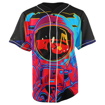 Space Swag Astronaut V2 Button Up Baseball Jersey
