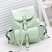 Casual Backpack College School Bookbag Daypack Travel Bag gift + Free Shipping