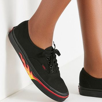 Vans Authentic Flame Wall Sneaker   Urban Outfitters