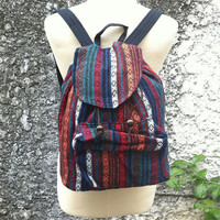 Backpack Boho Tribal Art Aztec Woven Hippies Tapestry Ethnic Rucksack Hipster Aztec Gypsy Nepali Patterns Bags Purse Native Design Fashion