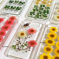 Iphone 5 case, Real Flower Floral Rose Iphone 5s case Cover,Dandelion Iphone 4 4s Case Dried Pressed Flower Rainbow butterfly iphone 4s
