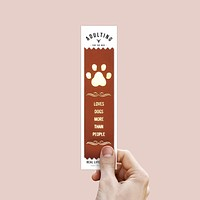 Loves Dogs More Than People Adulting Award Ribbon on Gift Card
