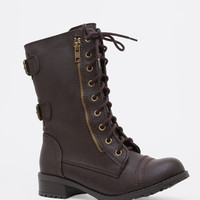 Moto Radar Combat Boots - Brown