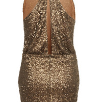 **HELENA SEQUIN DRESS BY GOLDIE