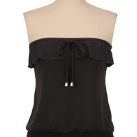 ruffle front tube top