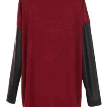 Burgundy Longsleeves top