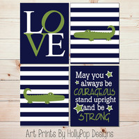 Alligator Madras Boy Nursery Wall Decor Forever Young Wall Art Nursery Song Prints Navy Blue Green Alligator Prints LOVE typography #0807