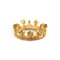 CRYSTAL CROWN RING