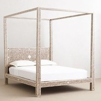Bone Inlay Four Poster Bed by Anthropologie