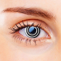Black Spiral Funky Contact Lenses
