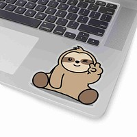 Sloth Peace Sign Sticker Decal, Sticker Decal, Animal Sitcker