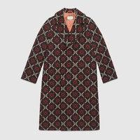 Gucci GG diamond wool coat