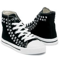 Studded Canvas High-Top Shoe - Urban Groove