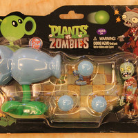 Class Toys PVZ Plants vs Zombies Snow Pea PVC Action Figure Model Toy For Kids Christmas Gifts