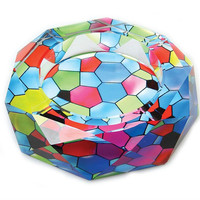 Crystal Geometric Abstract Ashtray