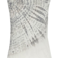 Raquel Allegra - Tie-dyed cotton-blend jersey tank