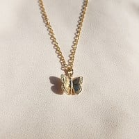 Golden Butterfly Necklace