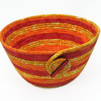 Coiled Fabric Bowl, Basket, Bright Colors