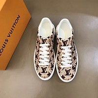lv men fashion boots fashionable casual leather breathable sneakers running shoes 117