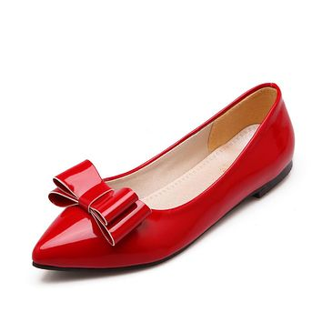 Women's Leisure Bow Low Heels Shoes