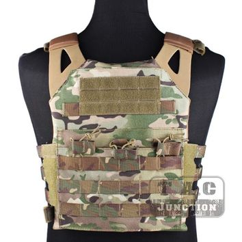 Emerson Tactical Jumpable Plate Carrier EmersonGear JPC Assault Lightweight Combat Vest Body Armor Adjustable MOLLE+ Plates
