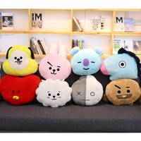 New Kpop ARMY Bangtan Boys BTS BT21 Vapp Pillow Warm Bolster Cute Plush Doll Korean KOYA TATA COOKY CHIMMY VAN SHOOKY RJ MANG
