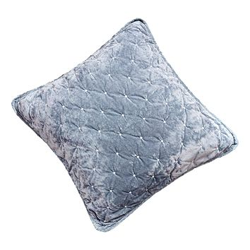 Tache Velvet Dreams Light Blue Plush Diamond Tufted Euro Sham (JHW-853LB)
