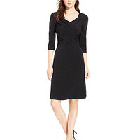 NY Collection B-Slim Three-Quarter-Sleeve Dress