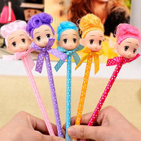 KitMax (TM) Pack of 12 Pcs 0.5mm Cute Cool Novelty Cartoon Doll Decor Ballpoint Pen Office School Supplies Students Children Gift (Color May Vary)