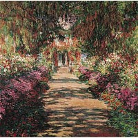 Garden Path At Giverny Poster by Monet