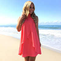 Timeless Dress In Coral