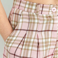 Urban Renewal Vintage Re-Made Pink Check Trousers - Urban Outfitters
