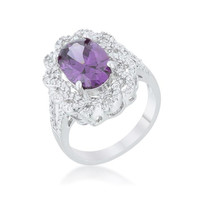 Amethyst Oval Classic Ring, size : 09