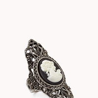 Burnished Cameo Knuckle Ring