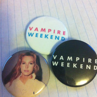 """Vampire Weekend Contra 1.5"""" Pinback Buttons Set of Three"""