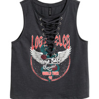 H&M Tank Top with Lacing $12.99
