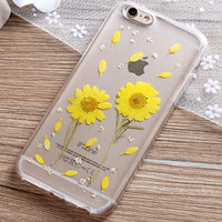 Sunflower Resin Iphone Cases for 6 6s plus