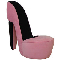 Chelsea Home Diva Shoe Chair in Pink