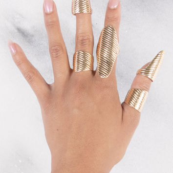 Gold Plated Ring Set