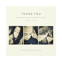 WEDDING THANK YOU PHOTO CARD: SIMPLE CHIC CUSTOM ANNOUNCEMENTS from Zazzle.com