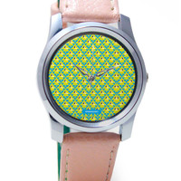 Geometrical Triangles Pattern Wrist Watch