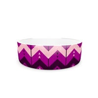 "Nick Atkinson ""Chevron Dance Purple"" Pet Bowl"
