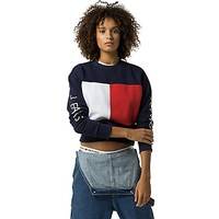 Tommy Jeans Big Flag Cropped Sweatshirt | Tommy Hilfiger USA