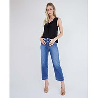 Nellie Ultra High-Rise Culotte Jeans