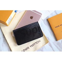 LOUIS VUITTON MEN TO WOMEN'S BLACK LEATHER WALLET